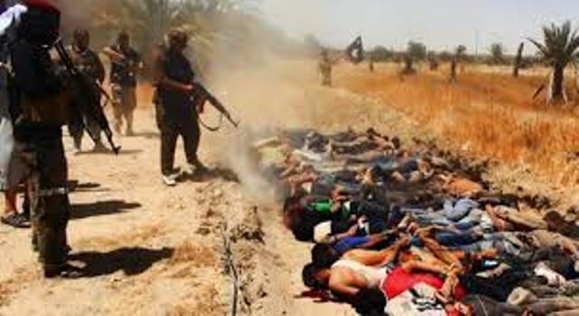 Exécutions sommaires de populations civiles par les hordes barbares de l'EIIL.
