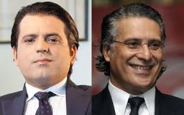Slim Riahi, président de l'UPL et propriétaire de Ettounisiya TV, et Nabil Karoui, propriétaire supposé de Nessma TV !