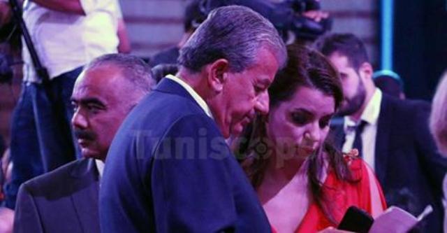 Tarek Ben Ammar et Amel Karboul en répétition...avant le petit Show qui a fait un grand flop.