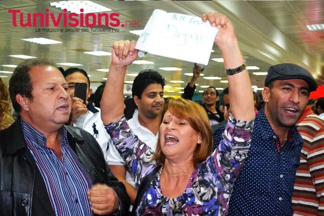 A gauche, le sociologue tunisien Hassan Kassar, connu pour son engagement panarabe.