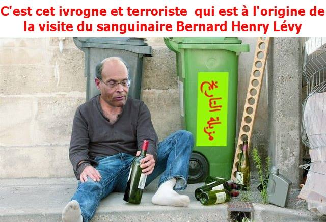 Montage photo qui exprime le dégoût des Tunisiens à l'égard de ce mercenaire du Qatar et agent du sionisme.