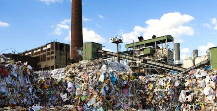 Usine suédoise de recyclage des ordures ménagères.
