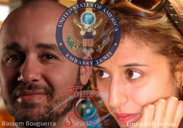 """Le couple """"révolutionnaire"""", Bassem Bouguerra, Emna Ben Jemaa."""