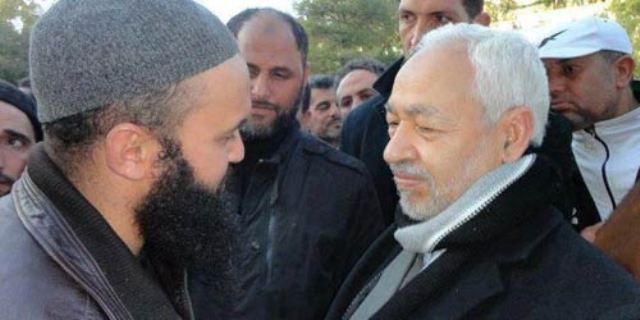Seifallah Ben Hassine, alias Abou Iyadh, avec Rached Ghannouchi, alias Abou Erdogan.