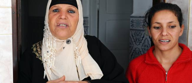 Manoubia Bouazizi et sa fille Leila Bouazizi.