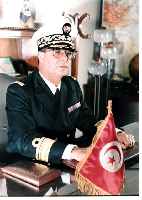 Chedli Cherif, ex-Amiral de la Marinne Tunisienne.