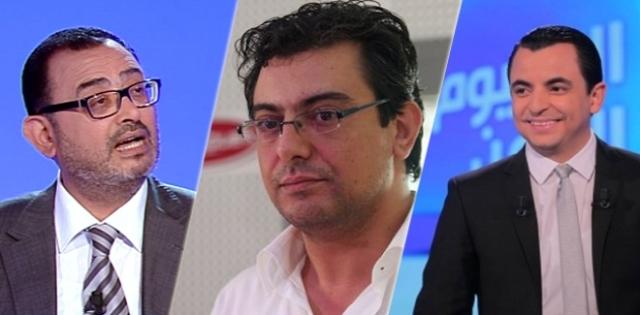 Au, milieu, Noureddine Ben Ticha. A gauche, Sofiène Ben Hamida et à droite Hamza Balloumi.