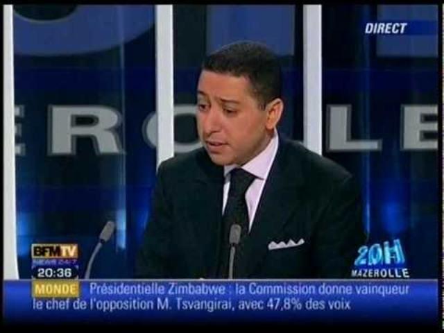 Elyes Ben Chedly interviewé en mars 2010 sur BFM-TV par Olivier Mazerolles.