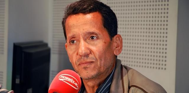 Othman Jallouli, le barbouze de l'UGTT qui a injurié et menacé Saïd Aïdi devant son bureau au ministère, en compagnie d'un ramassis de syndicalistes.