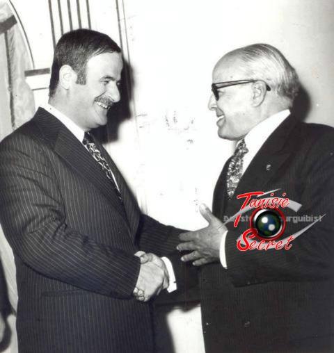 Habib Bourguiba et Hafez Al-Assad.