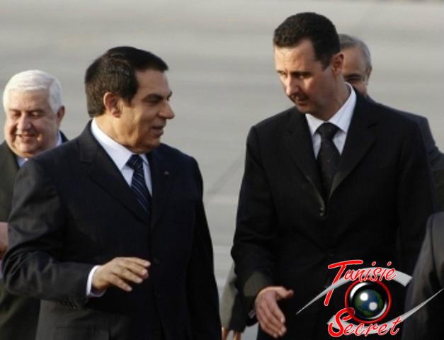 Zine Al-Abidine Ben Ali reçu à Damas, lors du Sommet des Etats arabes, le 29 et 30 mars 2008.