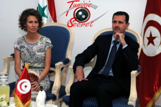 Le couple présidentiel syrien, reçu à Tunis le 12 juillet 2010.