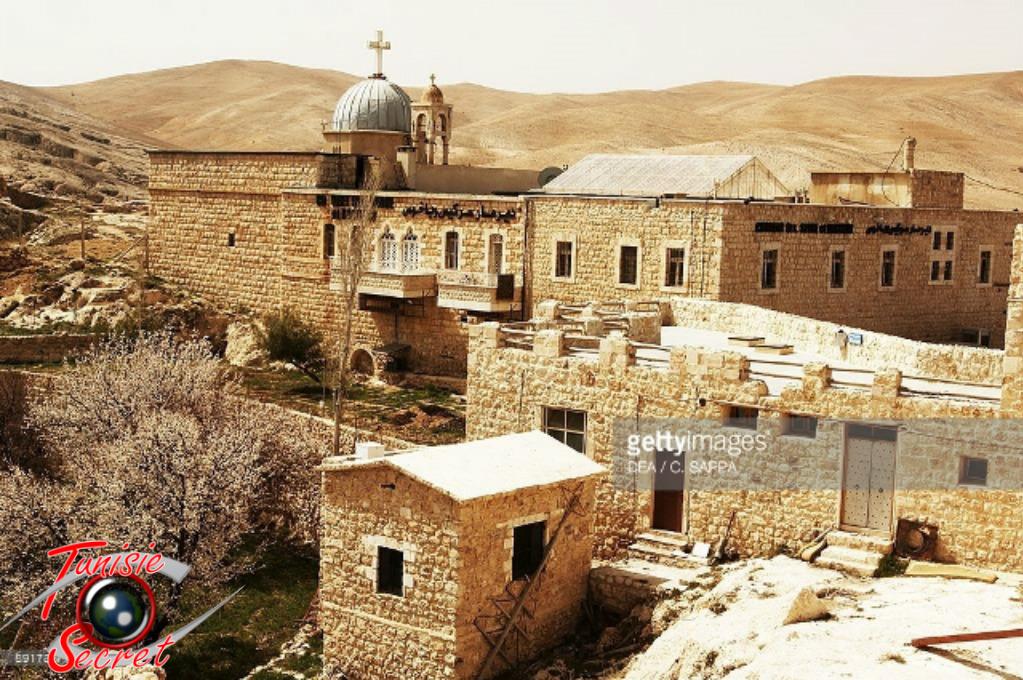 Le site chrétien Mar Sarkis à Maaloula, dans le Nord-Ouest de Damas.