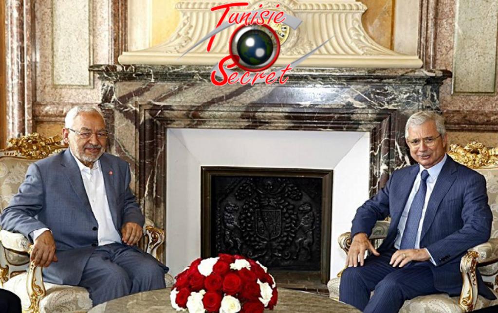 """Le chef des intégristes """"modérés"""" avec l'ex ami de la Tunisie, Jean-Claude Bartolone."""