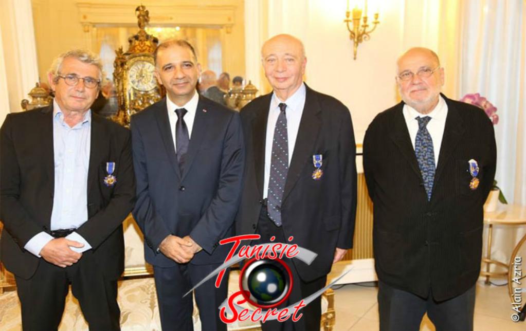 De gauche à droite, Michel Boujenah, Mohamed-Ali Chihi, Claude Nataf, Serges Moati.