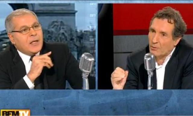 """Mezri Haddad fustigeant le """"printemps arabe"""" chez Jean-Jacques Bourdin, le 13 janvier 2011. L'Histoire lui a donné raison."""