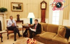 "Barack Hussein Obama interviewé par Jeffrey Goldberg, du magazine américain  ""The Atlantic""."