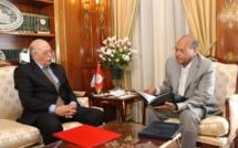 Chedly Ayari et Moncef Marzouki, en septembre 2012.