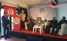 De gauche à droite, Mohamed Hnid, Ahmed Khattab, XX (inconnu), Abdeljawad Bouslimi, Slim Ben Hamidane, Abdellatif Mekki, Yassine Ayari.