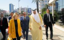 Salma Elloumi Rekik en compagnie du prince saoudien Soltan Ben Abdelaziz, le 18 octobre 2017.