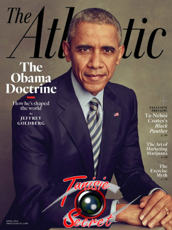 "Edition papier du magazine ""The Atlantic"" à paraître."